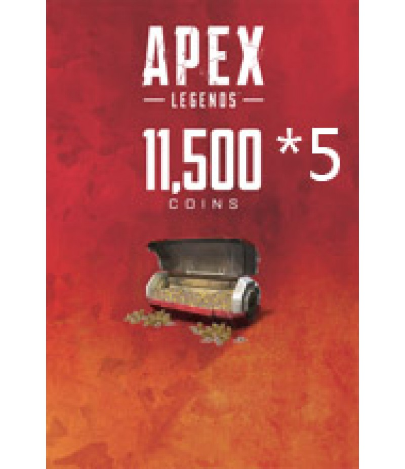 Apex Legends  >  Coins  >  Apex Legends Coins(PC Only)  >  11500*5 Coins