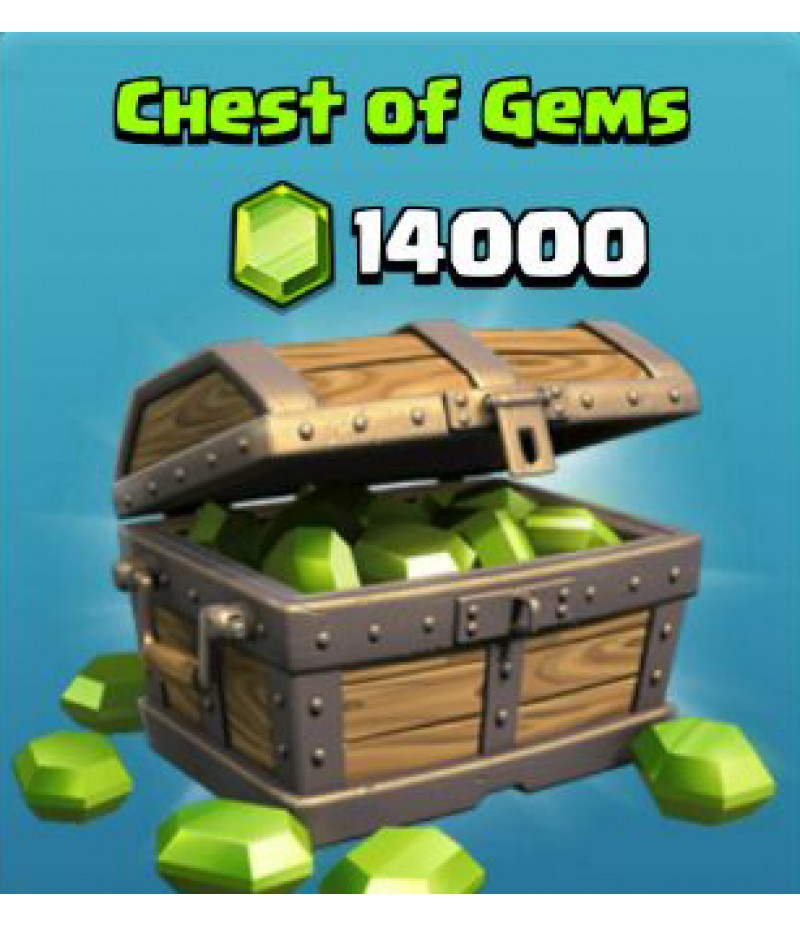 Clash of Clans  >  Gems  >  IOS  >  14000 Gems