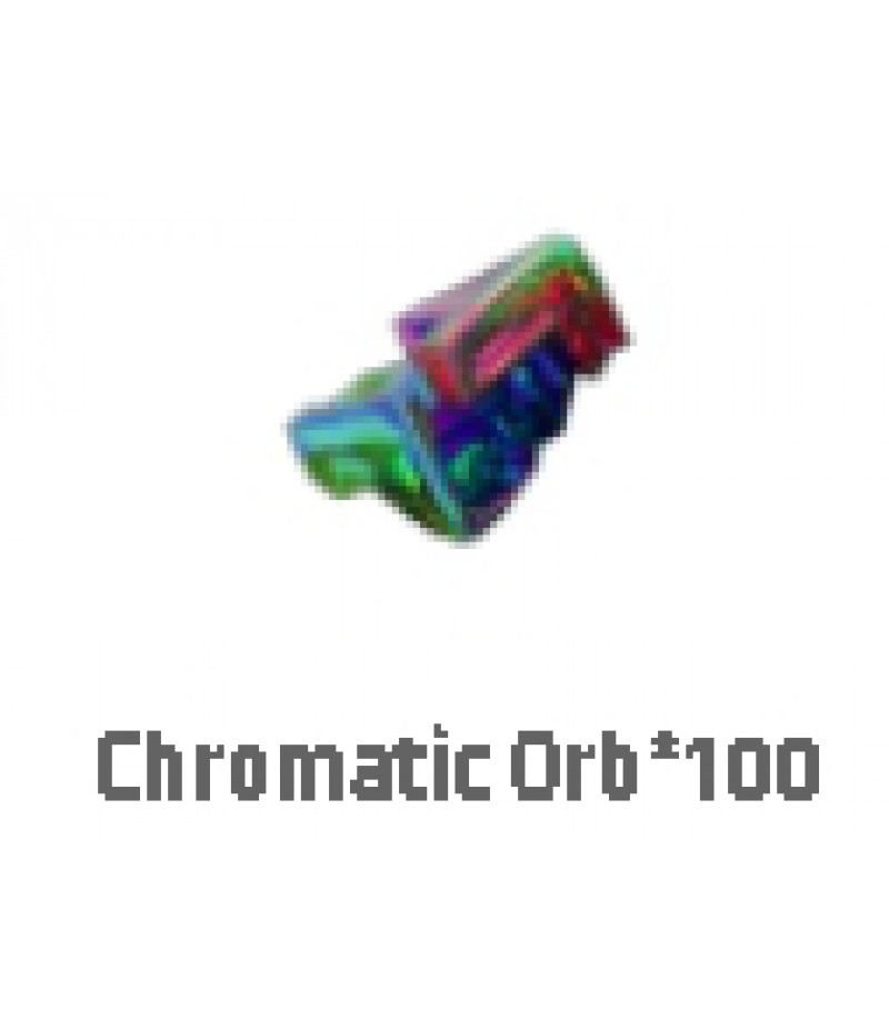 Path of Exile  >  Items  >   Synthesis S  >  Chromatic orb*100