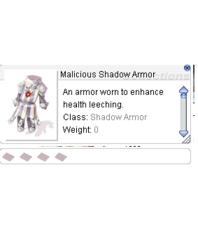 Ragnarok Online  >  Items  >  US - Chaos - Items  >  +10 Malicious Shadow Armor