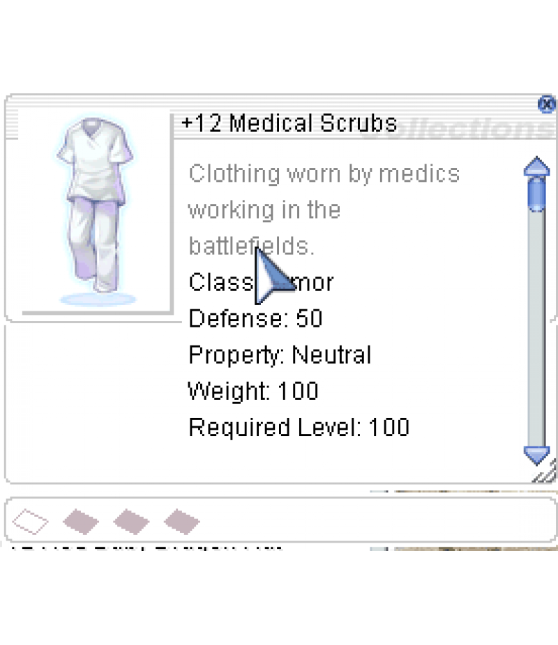 Ragnarok Online  >  Items  >  US - Chaos - Items  >  +12 Medical Scrubs