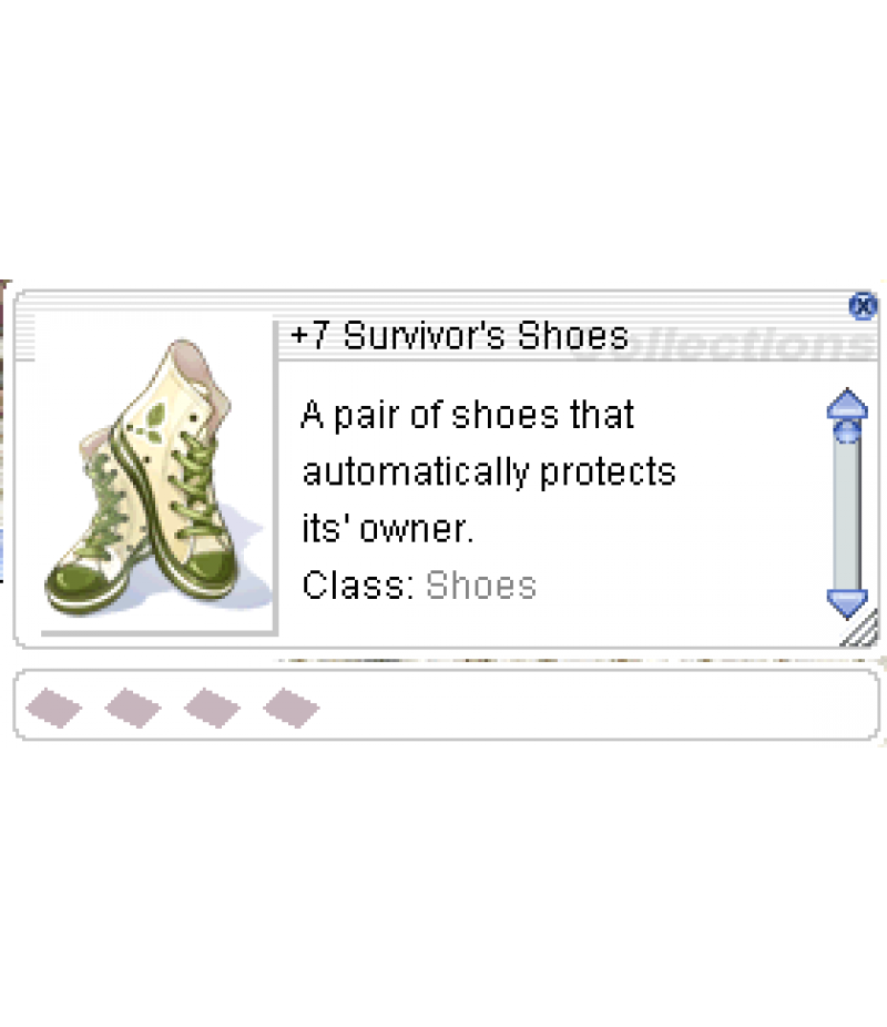 Ragnarok Online  >  Items  >  US - Chaos - Items  >  +7 Survivor's Shoes