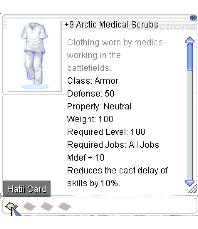 Ragnarok Online  >  Items  >  US - Chaos - Items  >  +9 Arctic Medical Scrubs
