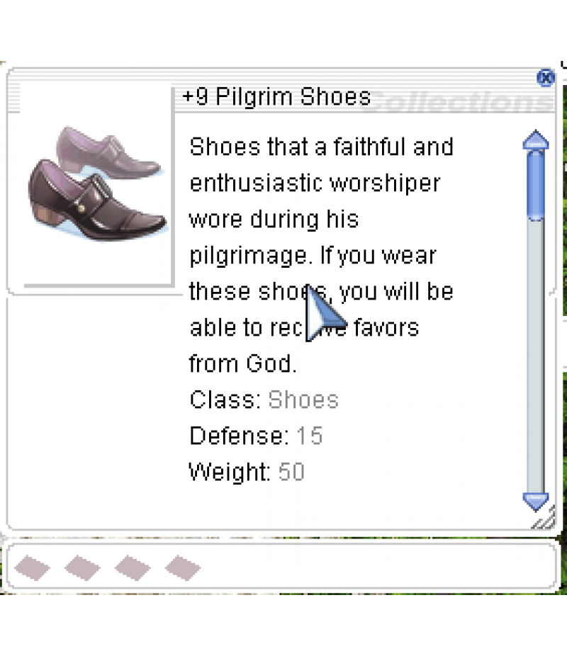 Ragnarok Online  >  Items  >  US - Chaos - Items  >  +9 Pilgrim Shoes