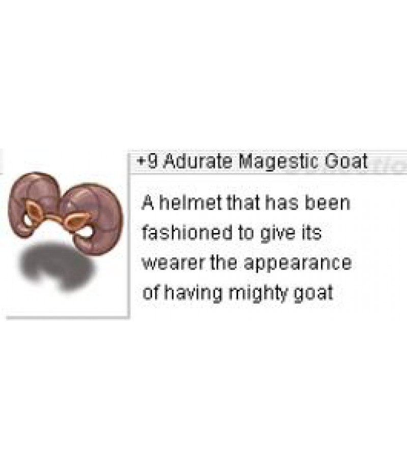 Ragnarok Re:Start  >  Items  >  US - Items  >  +9 Adurate Magestic Goat