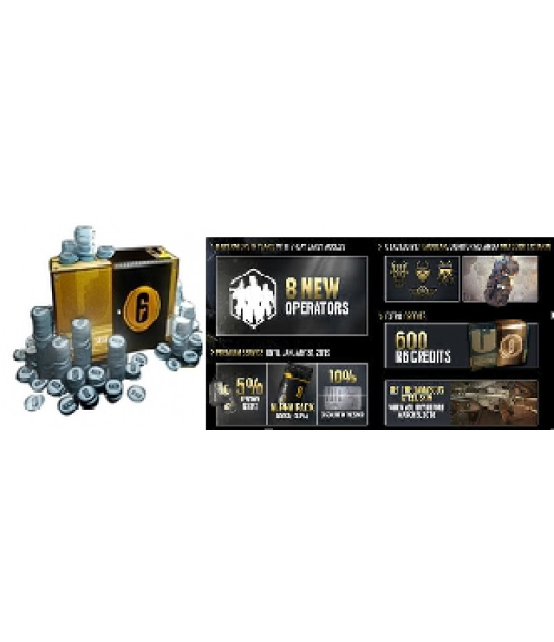 Rainbow Six Siege  >  Items  >  R6 Credits(PC only)  >  16000 Credits + year 4 pass
