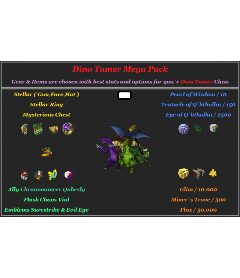 Trove  >  Items  >  PC Mega Packs  >  Dino Tamer Mega Pack