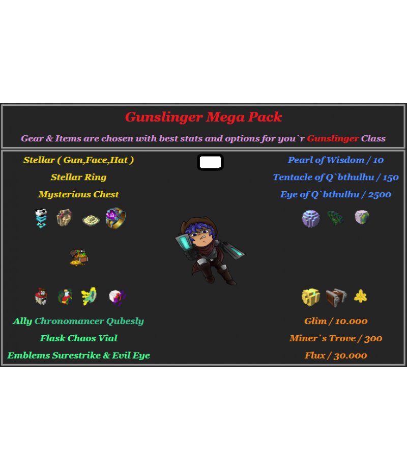 Trove  >  Items  >  PC Mega Packs  >  Gunslinger Mega Pack