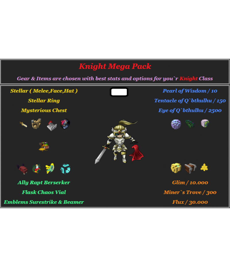 Trove  >  Items  >  PC Mega Packs  >  Knight Mega Pack