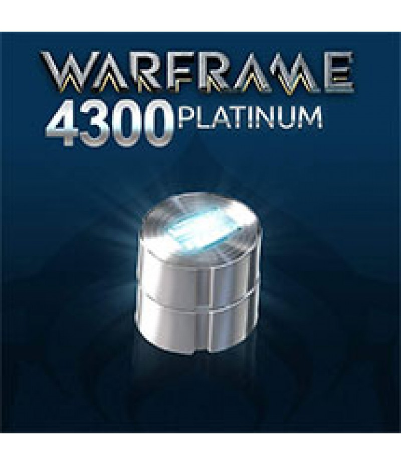 Warframe  >  Platinum  >  50% Discount(PC Only)  >  4300 Platinum