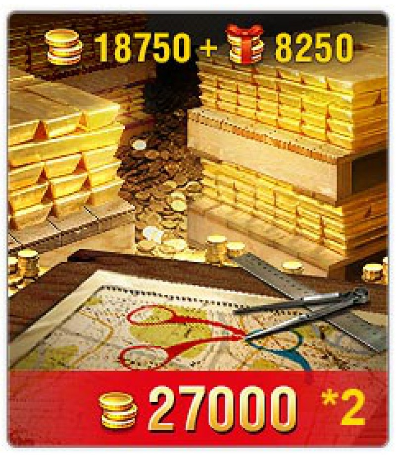 World of Tanks Blitz  >  Gold  >  Wotblitz Golds  >  27000 * 2 Gold