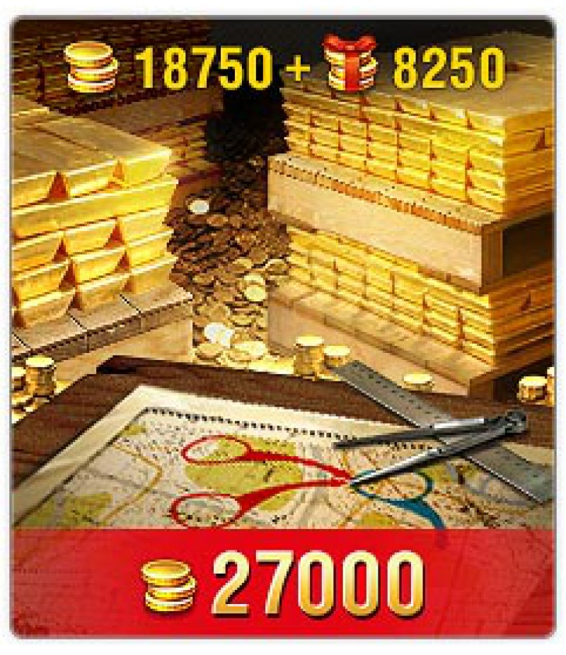 World of Tanks Blitz  >  Gold  >  Wotblitz Golds  >  27000 Gold