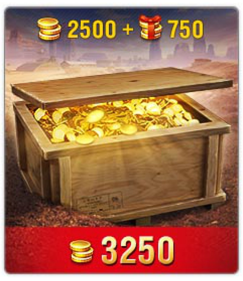 World of Tanks Blitz  >  Gold  >  Wotblitz Golds  >  3250 Gold